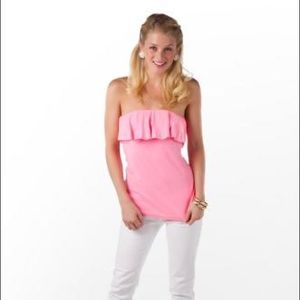 Lily Pulitzer Wiley Ruffle Tube Top